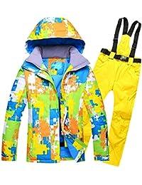 Traje de esquí Modelos de Pareja Hombres Ms al Aire Libre a Prueba de Viento Pantalones de esquí de Gran tamaño Impermeables, XXL, 1 Amarillo
