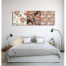 Cultura mexicana sombrero calavera de azúcar Arte de la pared Pintura al  óleo Imagen en lienzo Decoración 28fe9b382a8