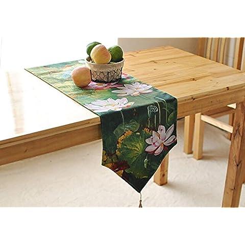 TOTO-China Tabla de loto verde Runner Lotus Pond Características del jardín bandera de la tabla