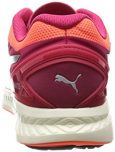 Puma Ignite V2, Chaussures de Course Femme Rose Red/Fluo Peach/Silver