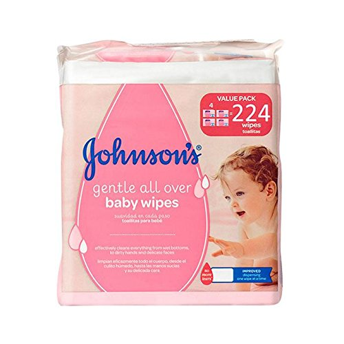 JOHNSONŽS toallitas para bebés envase 224 uds