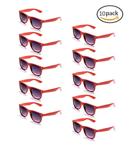 ONNEA 10 Paare Party Favors Sonnenbrille Set Sommer Kinder Damen (Rot 10-Pack)