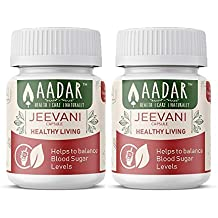 JEEVANI Capsules - Supports Healthy Natural Glucose Levels & Detox (with Aloe Vera & Neem) - 60 Capsules (Pack of 2)