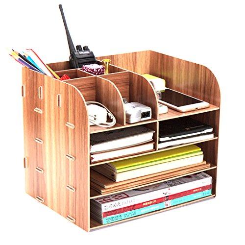 Tisch Organizer, Vicoki Briefablage Büro Schreibtisch Organizer Briefkorb Office Desktop Organizer Caddy, 32×25×27.5cm