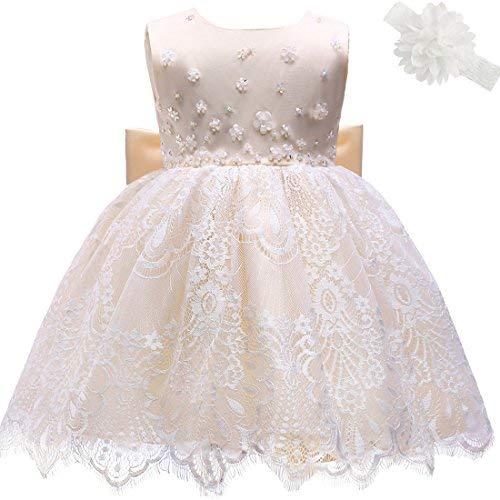 Prinzessin Kleid Blumenmädchenkleid Taufkleid Festlich Kleid Hochzeit Partykleid Festzug Babybekleidung ()