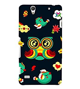 Sony Xperia C4 Dual :: Sony Xperia C4 Dual E5333 E5343 E5363 birds Printed Cell Phone Cases, eyes Mobile Phone Cases ( Cell Phone Accessories ), girls Designer Art Pouch Pouches Covers, kids Customized Cases & Covers, cartoon Smart Phone Covers , Phone Back Case Covers By Cover Dunia