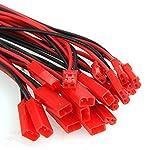 10 Paar 150mm JST Adapterkabel Stecker Buchse mit Kabel Draht männlich und weiblich für RC BEC Lipo Akku