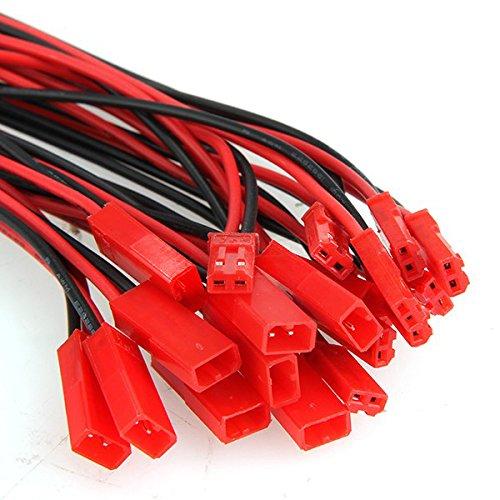 10 Paar 150mm JST Adapterkabel Stecker Buchse mit Kabel Draht männlich und weiblich für RC BEC Lipo Akku (Jst Stecker)