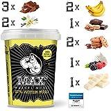 MAX MUSKEL MÜSLI Protein Müsli Low Carb ohne Zucker-Zusatz & Nüsse - Müsli to go wenig Kohlenhydrate viel Eiweiss Sportlernahrung für Muskelaufbau & Abnehmen 12er Set Becher Alle Geschmackssorten