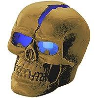 """Lunartec Totenkopf: Schädel-Leuchte """"Crackhead"""" 1 blaue LED (Beleuchteter Totenkopf)"""