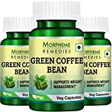 Morpheme Remedies Green Coffee Bean Extract Supplement (60 Capsules) - Pack Of 3