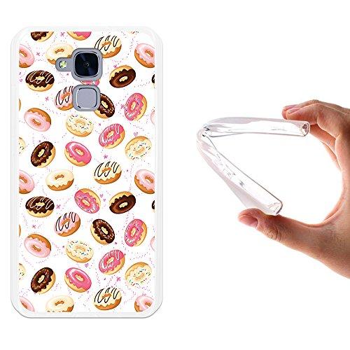Huawei GT3 Hülle, WoowCase Handyhülle Silikon für [ Huawei GT3 ] Donuts Handytasche Handy Cover Case Schutzhülle Flexible TPU