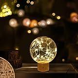 Luz Nocturna LED, TONWON lamparas Sobremesa Luz Habitacion, USB Lámpara de Luz con Soporte de...
