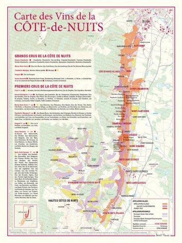Carte des vins de La Cte-de-Nuits