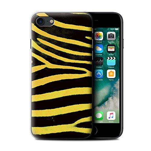 Stuff4 Hülle / Case für Apple iPhone 7 / Schwarz/Weiß Muster / Zebra Tier Haut/Print Kollektion Gelb