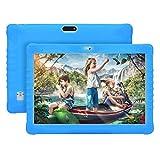Tablette Tactile 10 Pouces WiFi 4G Double SIM/WiFi 2Go RAM 32Go ROM Quad Core 8500mAh Batterie 8MP Caméra Bluetooth/OTG/GPS DUODUOGO G15 Tablette Enfant(Bleu)