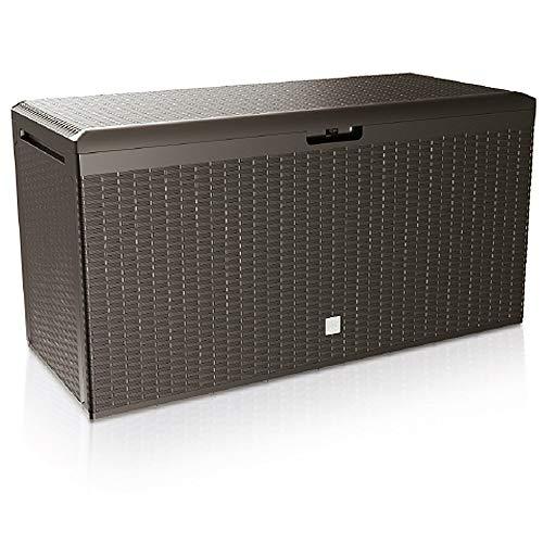 Deuba Baúl de Almacenamiento Rato Plus marrón para Exterior e Interior arcón de almacenaje Accesorios...
