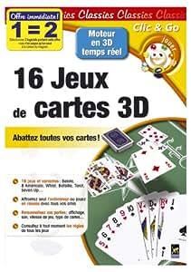 16 jeux de cartes 3D