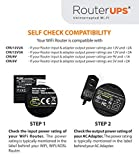 Resonate RouterUPS CRU12V2 Power Backup for Wi-Fi Router (Black)