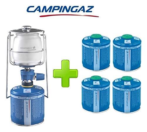 ALTIGASI Lanterne Lampe à gaz Campingaz LUMOGAZ Plus de 80 W + 4 pièces Cartouche CV 300 de 240 GR