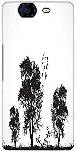 Snoogg Vector Grunge Background With Trees Designer Protective Back Case Cover For Micromax Canvas Knight A350