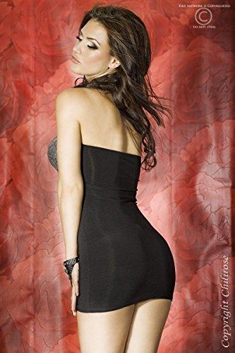 CR3271 mini-robe-argent/noir Noir - Noir
