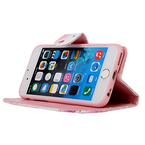 MOONCASE Étui pour Apple iPhone 6 / 6S (4.7 inch) Printing Series Coque en Cuir Portefeuille Housse de Protection à rabat Case Cover ZD13 ZD05 #1230