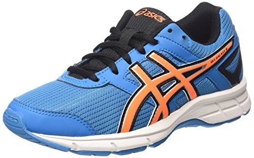 Asics Gel-Galaxy 8 GS Unisex-Kinder Laufschuhe Blau (methyl Blue/hot Orange/black 4230)
