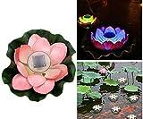 HITOP Moderne Design Solar Schwimmende LED Lotus Licht, Wasserdichte Farbwechsel Blume Teich Nachtlichter Für Abend Garten Haus Leuchten Pool Partei, Ideal Novel Kreatives Geschenk (pink)