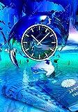 Timewarp097 (3932) Dixtime Designer-Wanduhr Größe / Material: 50cm x 70cm auf ALU-DIBOND