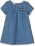 BIMBUS 171IEIA004, Vestido para Bebés, Blu (Blu Scuro Jeans 01), 74 cm