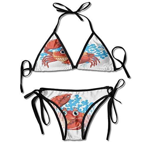 Womens Sexy Bikini 2 Pieces,with Blue Coral Reef Sexy Bikini 2 Pieces -