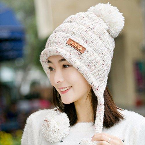 GQFGYYL Cálido Sombrero de Lana en Invierno y de Punto Sombrero de  Invierno ce90762e150