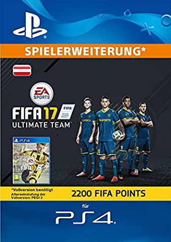 FIFA 17 Ultimate Team - 2200 FIFA Points [PlayStation Network Code - österreichisches Konto] (Ps Network Online)
