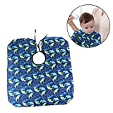 #9: OULII Salon Waterproof Hair Cut Hairdressing Barbers Cape Gown Sea Fish Patterned Barber Styling Cloak for Kids