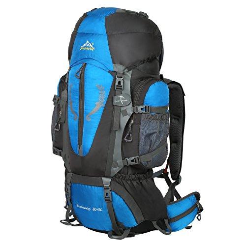 Wanderrucksack Trekkingrucksack für Damen & Herren 75L / 85L wasserdicht mit Inengestell Hüftgurt-Tasche*