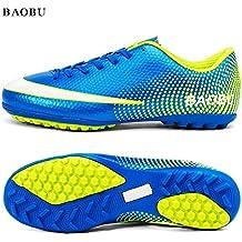 BAOBU Zapatos de entrenamiento para niños Unisex profesionales TF resistente al desgaste zapatos de fútbol antideslizantes