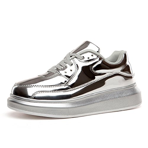 Chaussures de sport face brillante gâteau éponge épais chaussures blanc chaussures sport loisirs accrue