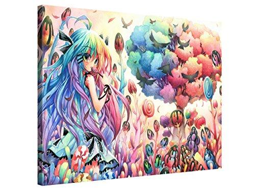 Gallery of Innovative Art-Anime Artwork-Candy Forest-100x 75cm-Stampa Tela in qualità di marca (Scatole Candy Personalizzati)