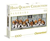 Clementoni Puzzle 39076 - Beagles  -  1000 pezzi High Quality Collection Panorama