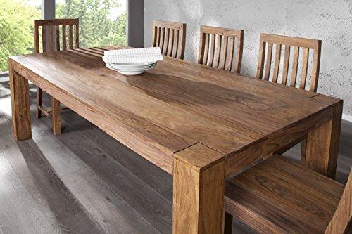 DuNord Design comedor mesa Jakarta 200 cm Sheesham madera maciza ...