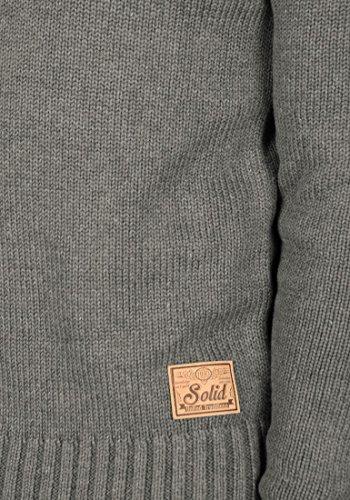 SOLID Paddy - Pull en Maille- Homme Grey Melange (8236)