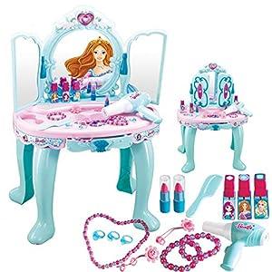 Frozen Schminkset Rollenspiel Einstellen, Schminktisch Mit Zubehör Perfektes Geschenk Für Prinzessin Mädchen