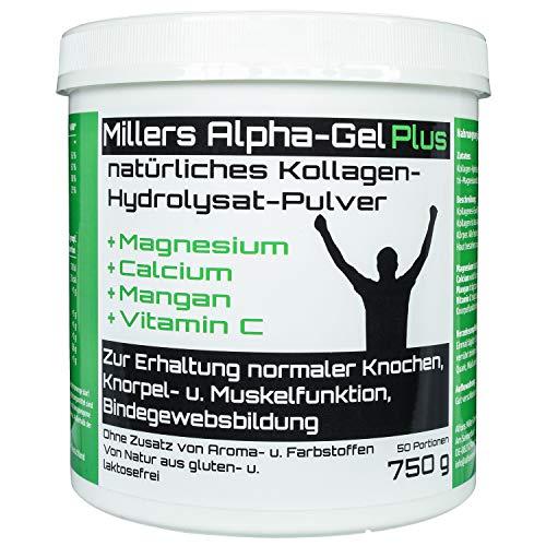 Kollagen mit Magnesium, Calcium, Mangan, Vitamin C I Premium Nahrungsergänzungsmittel für Ihre Gelenke I Laborgeprüft I Hergestellt in Deutschland -