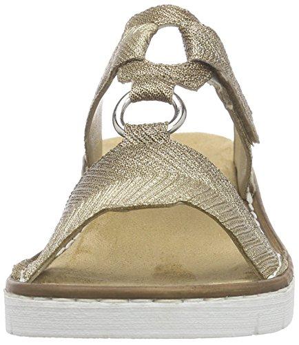 Rieker - 60090 Women Mules, Ciabatte Donna Gold (oro / 92)