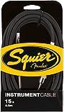 Fender Accessoires guitares SQUIER BY FENDER CABLE POUR INSTRUMENT 4M50 PACK DE 3 CABLES NOIRS Cables instrument