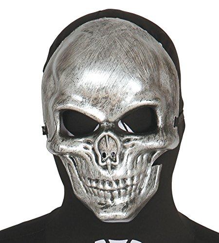 Guirca - Careta esqueleto, talla única, color plateado (2542)
