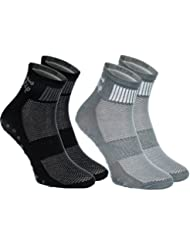 2,4,or 6 pairs of Colourful Non-slip socks, ABS system, Ideal for Athletes: Yoga, Fitness, Pilates, Martial Arts, Dancing, Gymnastics, Trampolines, sizes from 4 to 11,5 Breathable Cotton,High Quality