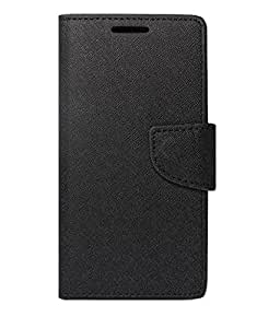 Jma Premium Dairy Wallet Case Cover For Micromax Canvas Nitro A310 - Black