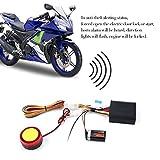 Jasnyfall 125dB Motorrad Fahrrad Diebstahlsicherung Alarmanlage Autocycle Wegfahrsperre Sensor Doppel Fernbedienung Motor Start Alarm